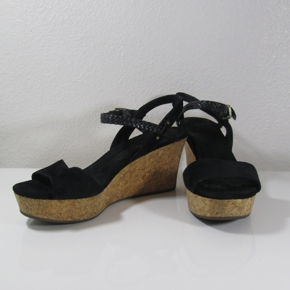 5d908d046370 Ugg D Alessio suede leather braided wedge sandal. M 5c7d91f8c9bf5079ee0e0413